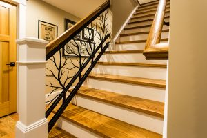 metal tree bannister